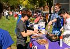 Students offer a taste of culture at more than 40 booths.