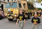 Iowa Army ROTC in the homecoming parade