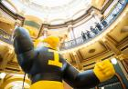 10-foot inflatable Herky in the rotunda