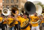 tuba players in the homecoming parade