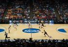 Photo from center court at the Iowa men's basketball NCAA Tournament game.