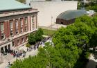 People lined up outside the Iowa Memorial Union.