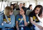 University of Iowa students get comfortable before travelling around Chicago