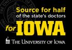 """Advertisement reading """"source for half of the state's doctors."""""""
