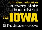 """Advertisement reading """"UI-trained educators in every state school district"""""""