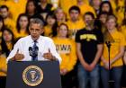 Obama speaks in the Field House