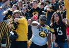 fans enjoying yet another hawkeye victory