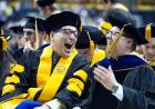 scenes from commencement ceremony