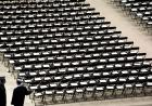 chairs set up at commencement