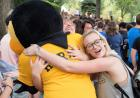herky getting hugs