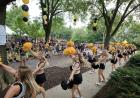 iowa spirit squad at block party