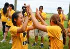 students join hands in iowa edge team-building exercise