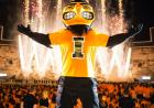 Herky with fireworks