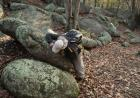 """Mike Simon pokes around the trail at Elephant Rocks State Park. Giant granite boulders are scattered throughout the park. The largest, called """"Dumbo,"""" is 27 feet tall, 34 feet long, 17 feet wide, and tips the scales at a hefty 680 tons."""
