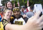 hawkeye riders taking a selfie