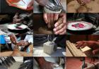 collage of photos of hands creating various works of art