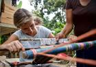 traditional Mayan weaving method