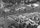 Aerial view of IMU and arts campus in 1968