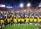 Hawkeye swarm at the Rose Bowl
