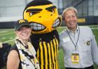 Bruce Harreld and his wife with Herky