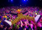 Herky crowd surfs