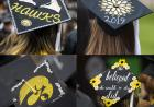 composite of decorated caps