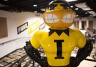 Herky statue in the Hawkeye Room