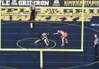 wrestlers competing in outdoor match