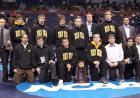 The Iowa Hawkeyes pose for a team photo after the tournament.