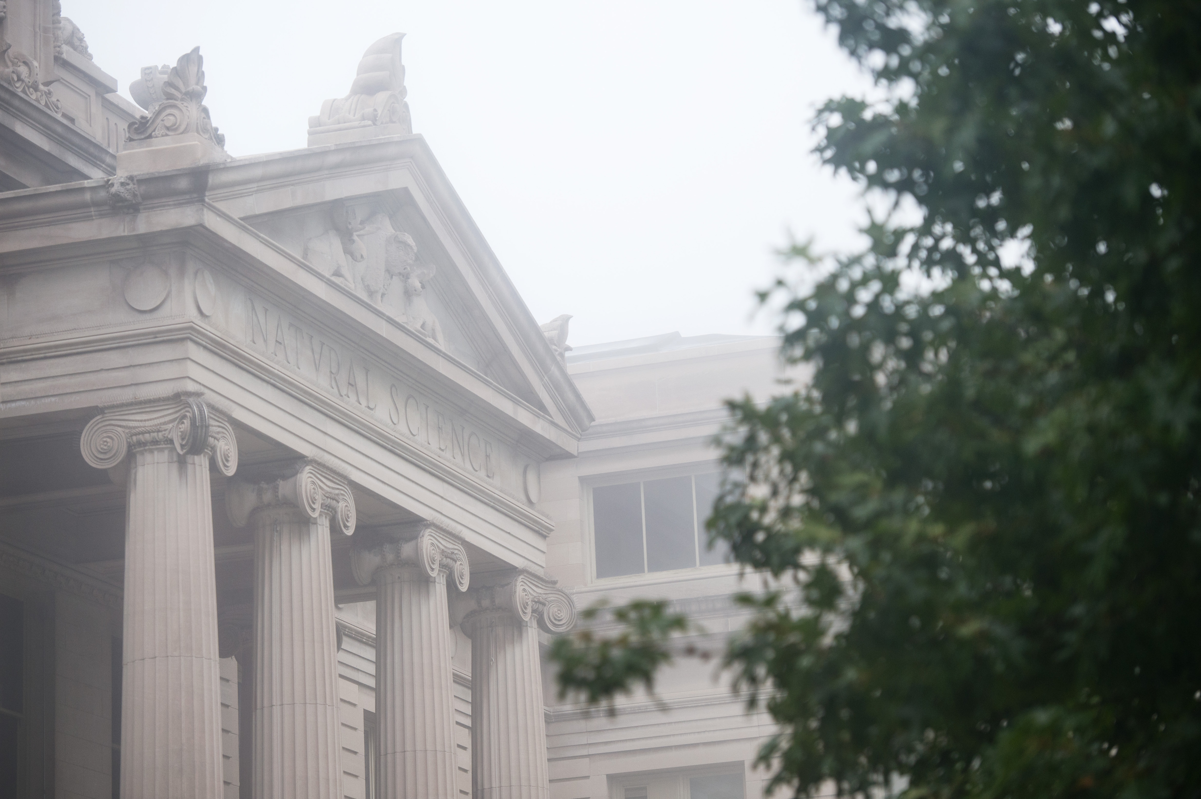macbride hall in the fog