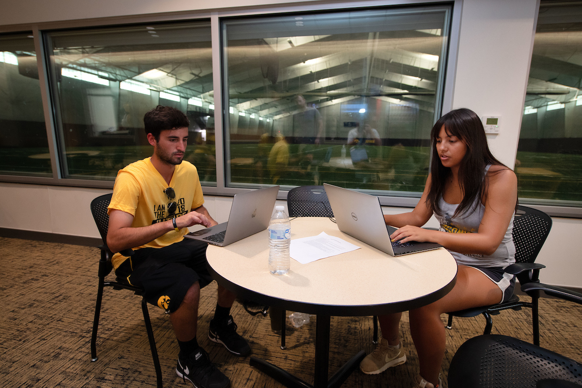 University of Iowa students manage social media communication for a professional tennis tournament