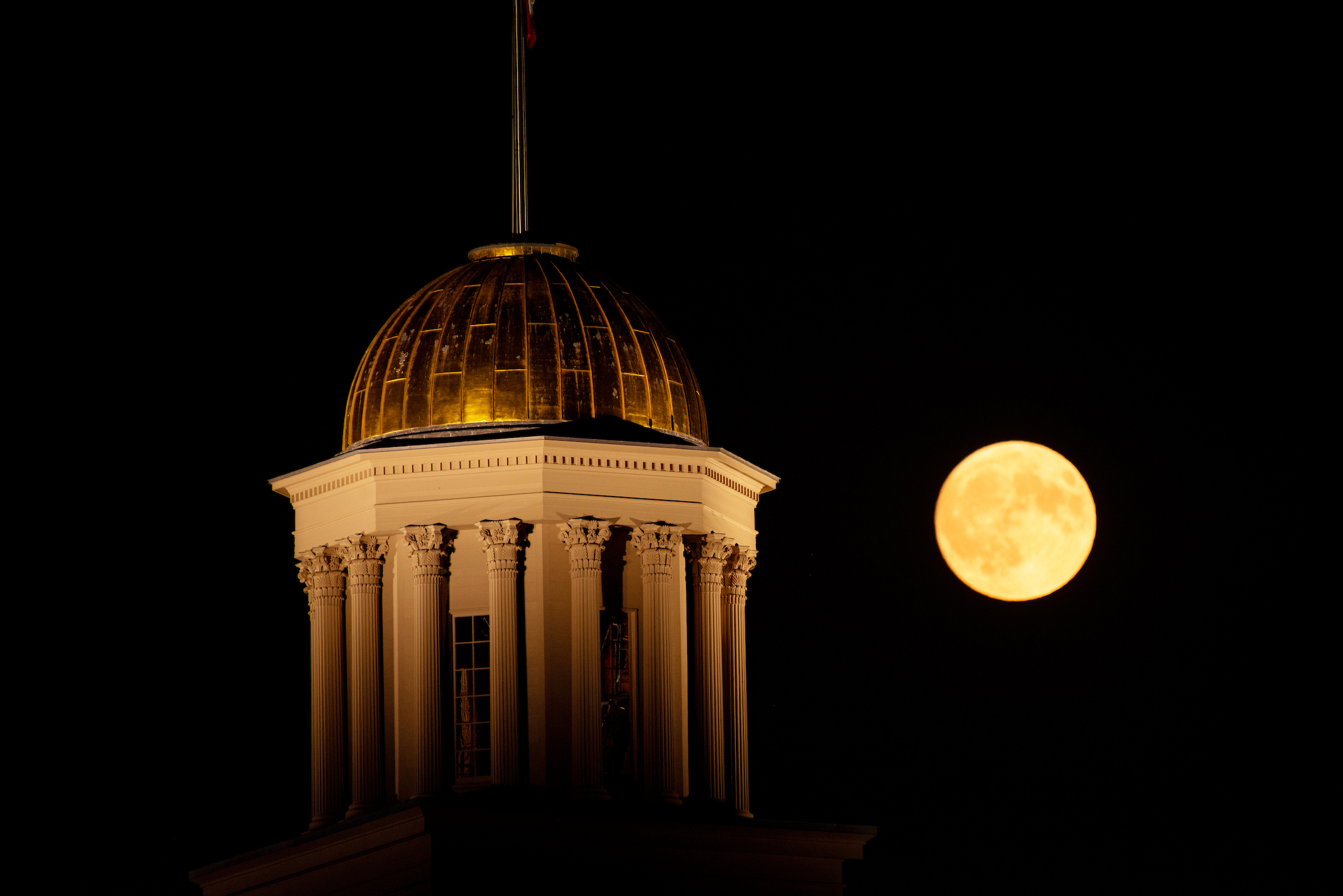 full moon over old capitol