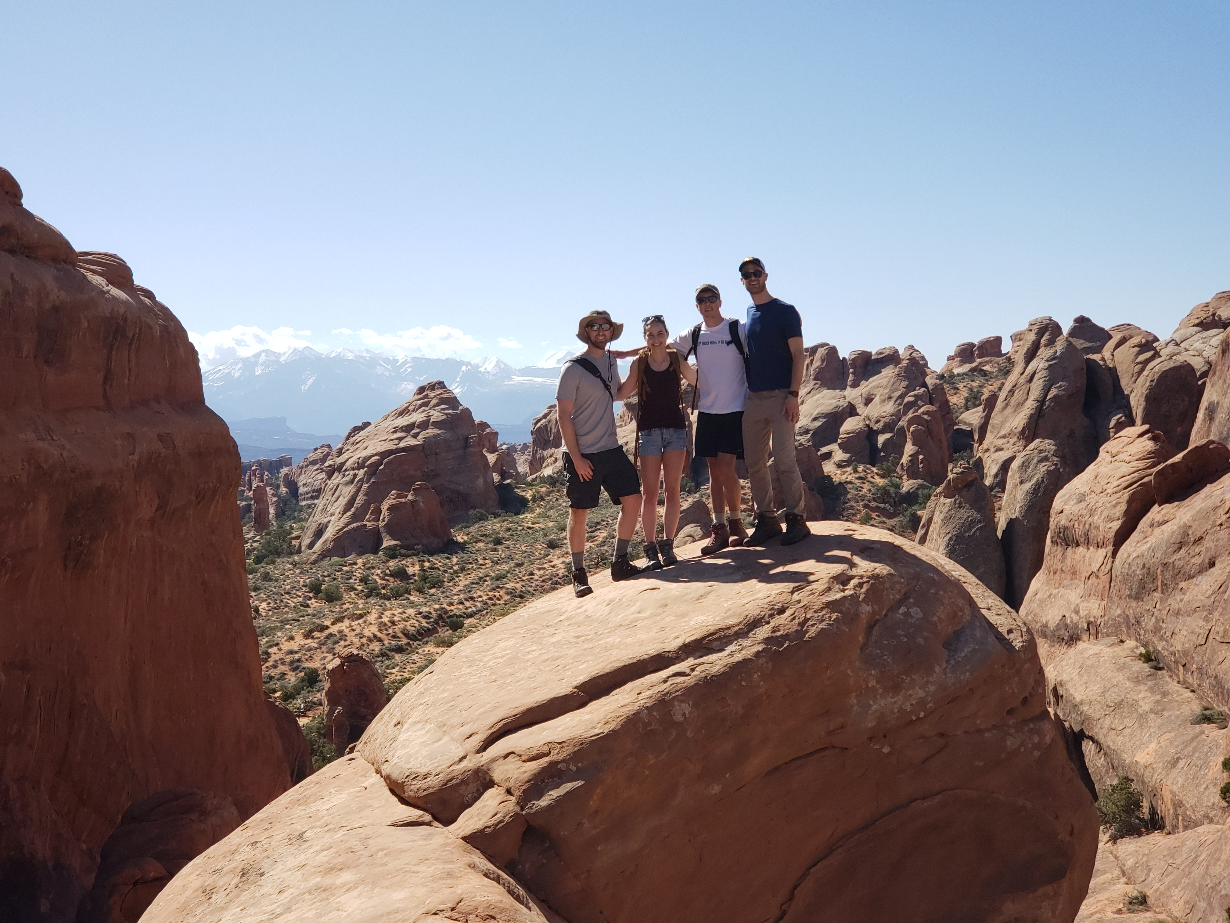 students at arches national park