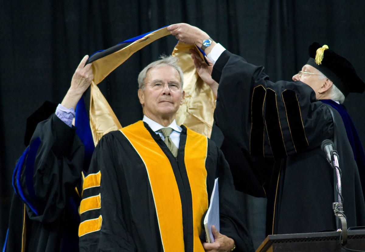 tom brokaw at commencement