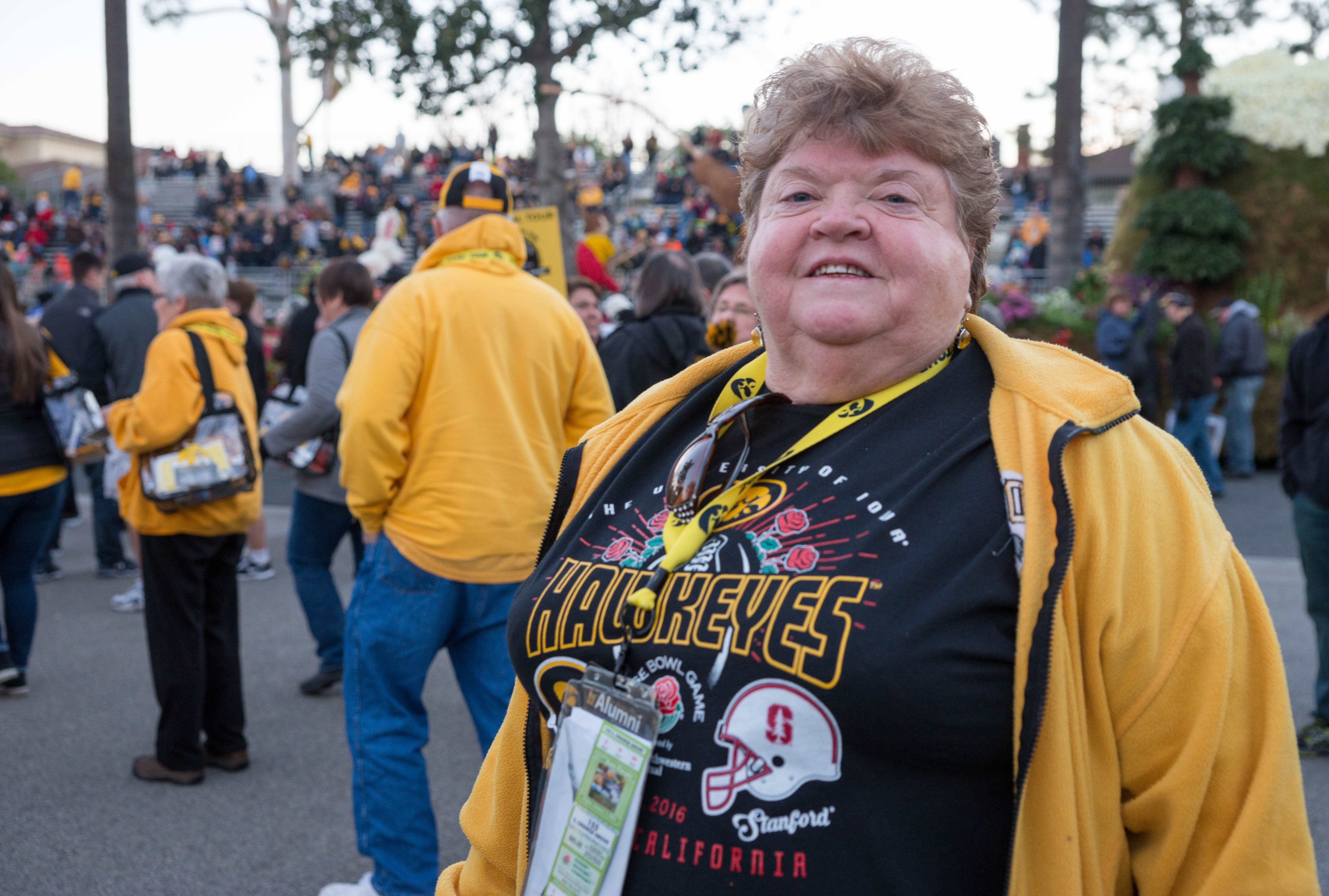 Arlene Miller from North Liberty, Iowa, is crossing an item off her and her husband's bucket list.