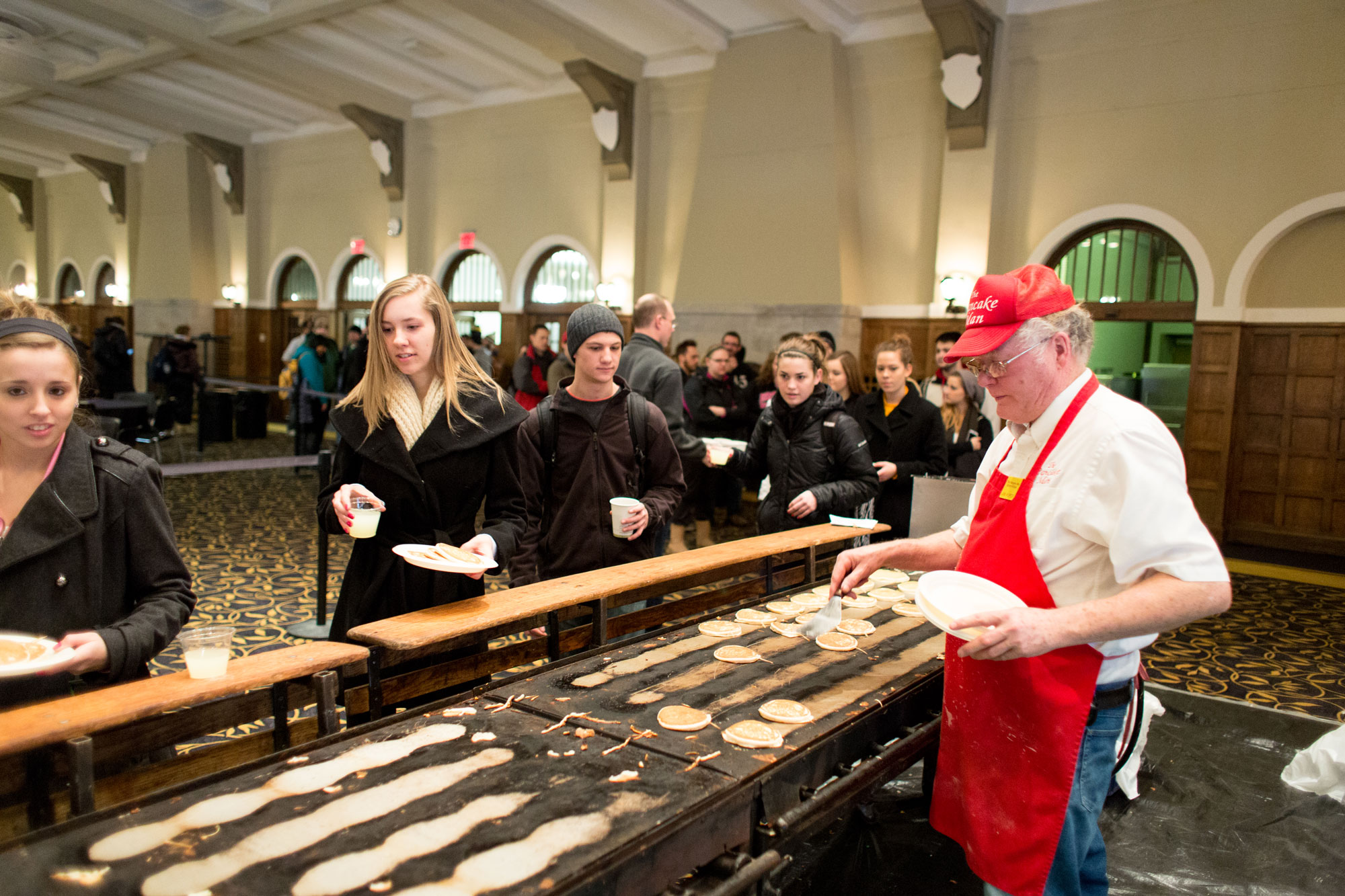 Flippin' for finals: pancakes for students during finals week