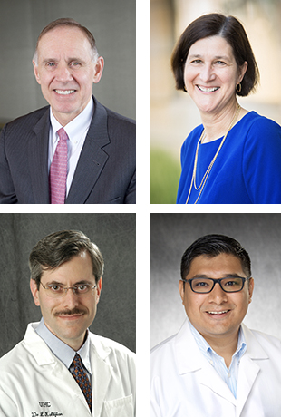 Clockwise from upper left, Brooks Jackson, Edith Parker, Jorge Salinas, and Lauris Kaldjian