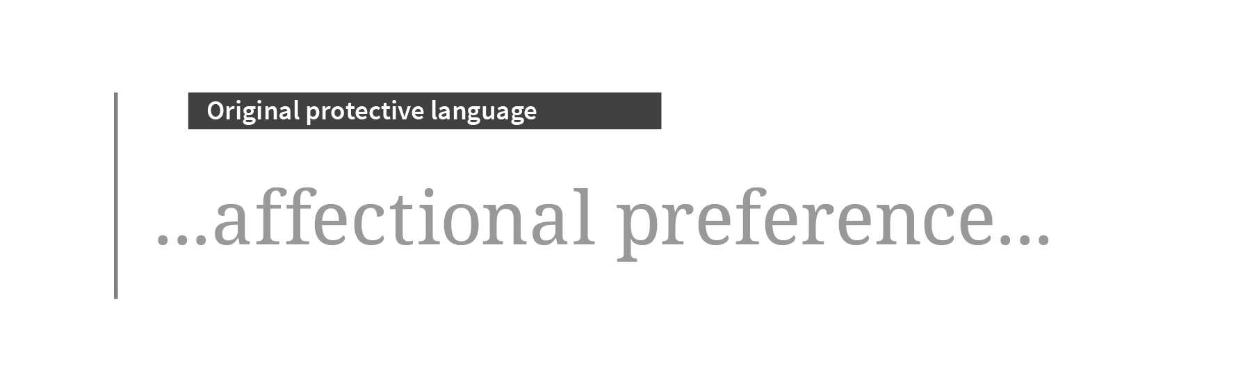 affectional preference in large type