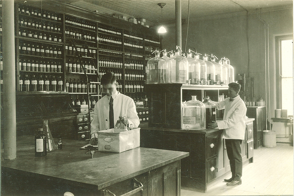 laboratory at the hospital in what is now known as seashore hall