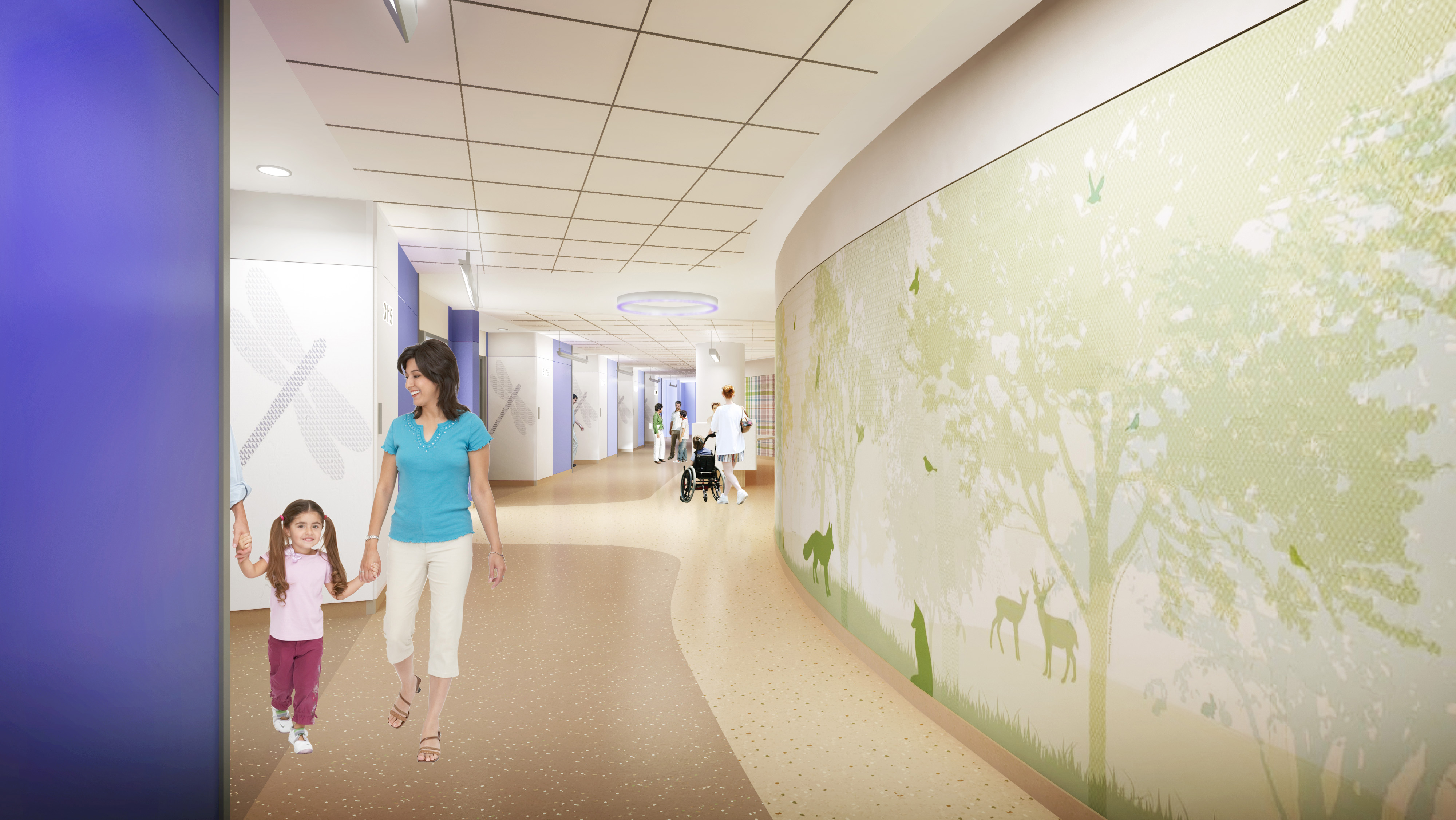 rendering of interior of new UI Children's hospital