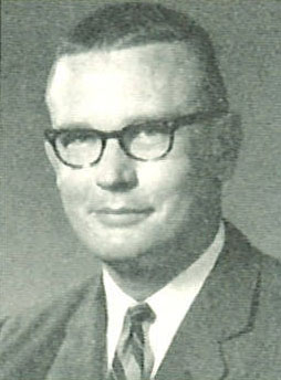 black-and-white yearbook portrait of Bill Ringer