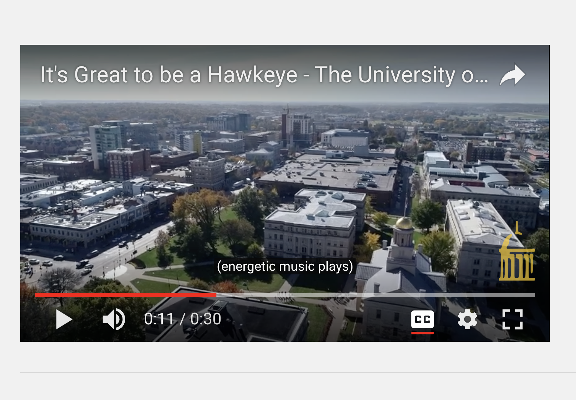screen shot of youtube vid