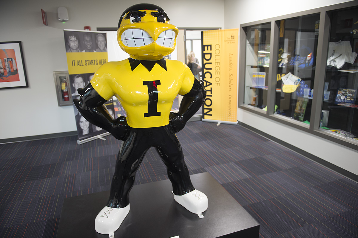 Herky statue in Kirkwood Regional Center