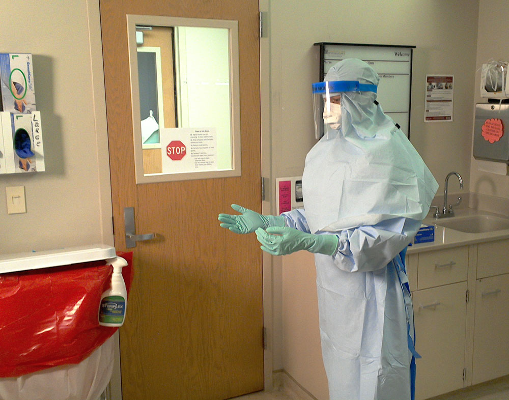 Personal protective equipment (PPE) used at UI Hospitals and Clinics for Ebola preparations