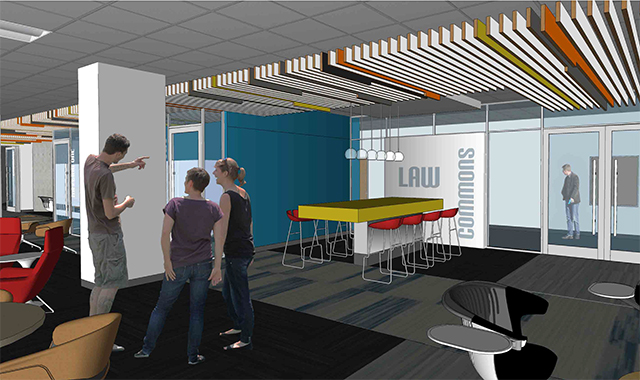 rendering of law commons area