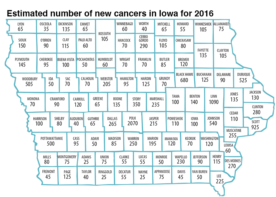 State Of Iowa Map With Counties.State Health Registry Issues Cancer In Iowa Report Iowa Now