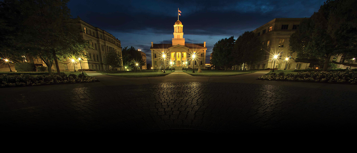 old capitol at night