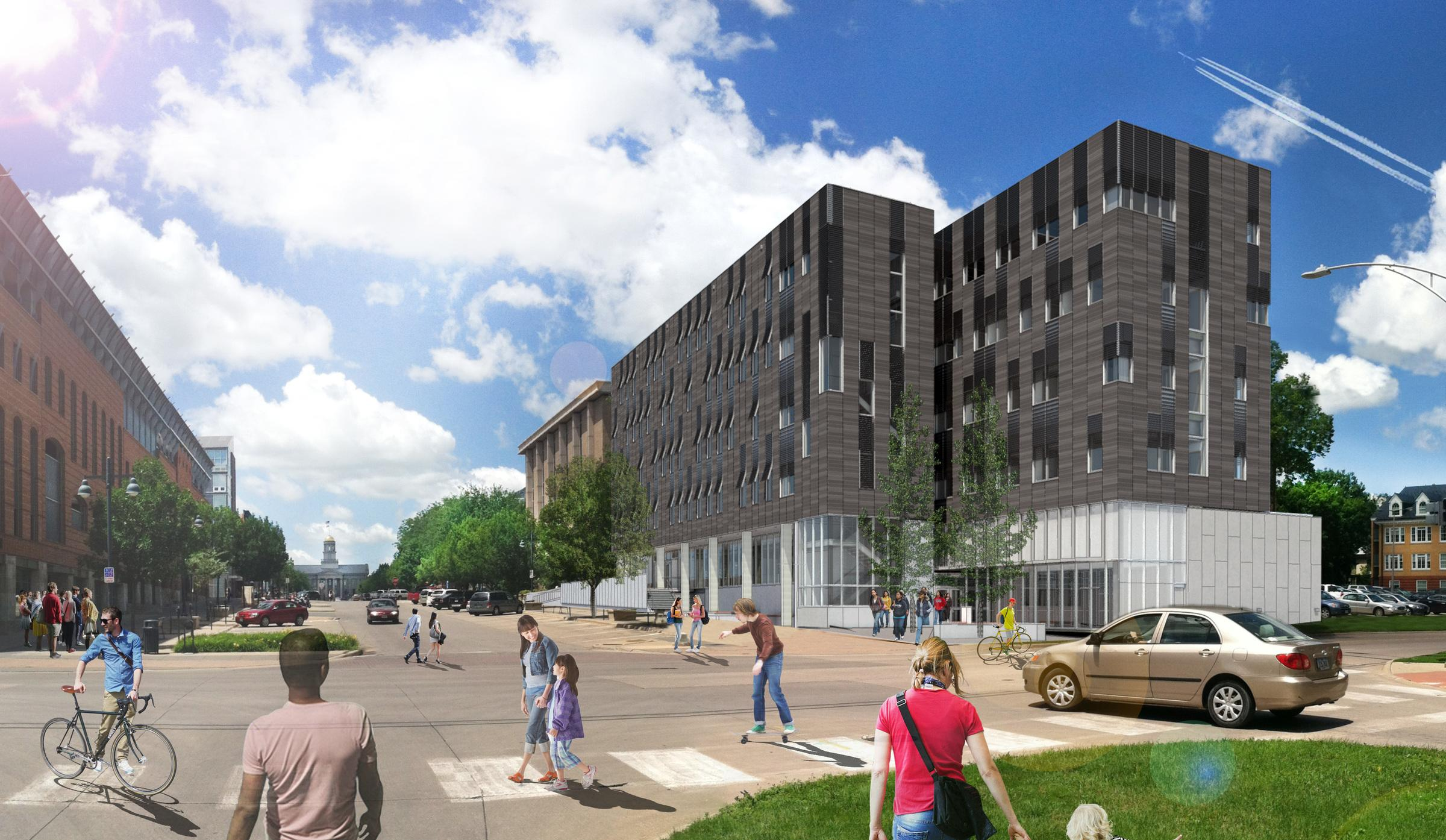 psychological and brain sciences building rendering