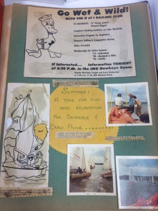 Photo of sailing club scrapbook page