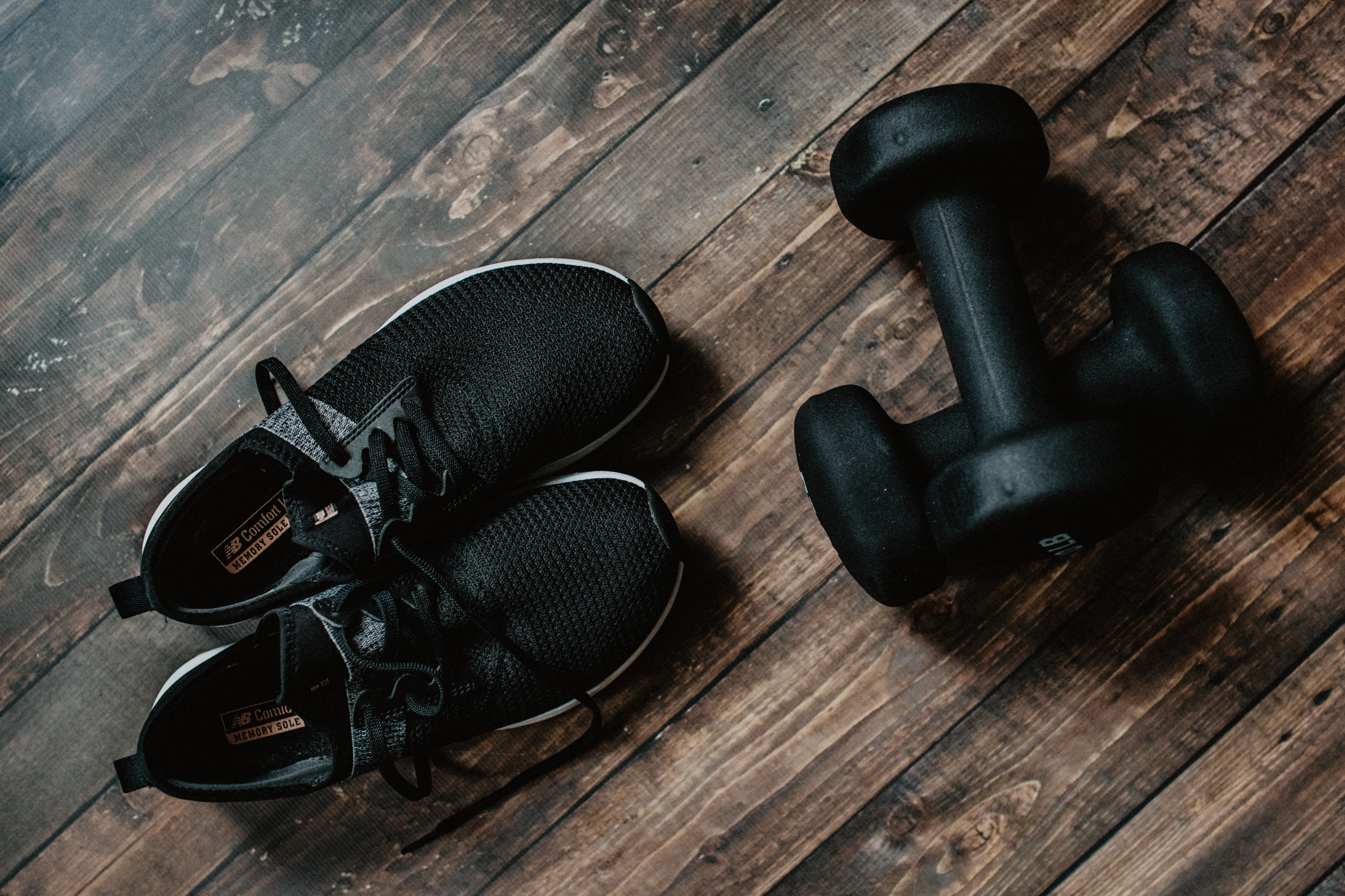 sneakers and dumbells